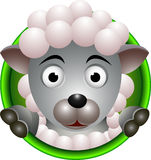 Cute sheep head cartoon Royalty Free Stock Photography