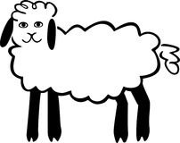 Cute Sheep Royalty Free Stock Photography