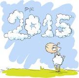 Cute sheep looking at sky Royalty Free Stock Image