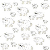 Cute Sheep pattern Stock Photography