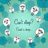 Cute sheep postcard for each day Royalty Free Stock Images