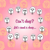 Cute sheep postcard for each day royalty free stock image