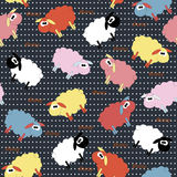 Cute Sheep Seamless Pattern Royalty Free Stock Image