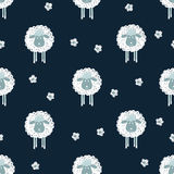Cute sheep seamless pattern Royalty Free Stock Photo