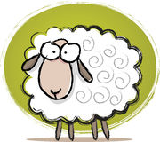 Cute Sheep Sketch royalty free illustration