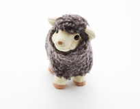 Cute sheep toy with white background Stock Photo