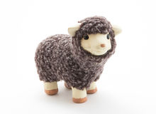 Cute sheep toy with white background Royalty Free Stock Photography