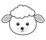 Cute Sheep Vector. Cute animal faces in  (One of 25 of them Stock Image