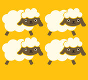 Cute Sheep. Vector File EPS10 Royalty Free Stock Image