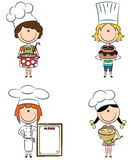 Cute shef girls Stock Images