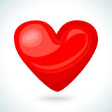 Cute shiny red heart icon isolated on white background Royalty Free Stock Photo