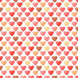 Cute shiny seamless heart pattern  on white background Stock Image