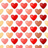 Cute shiny seamless heart pattern  on white background Stock Images