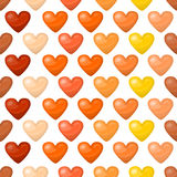 Cute shiny seamless heart pattern  on white background Royalty Free Stock Photos