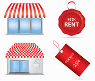 Cute Shop Icon Royalty Free Stock Image