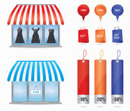 Cute shop icons Royalty Free Stock Images