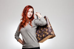 Cute shopper. Stock Images