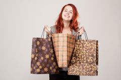 Cute shopper. Royalty Free Stock Photography