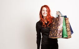 Cute shopper. Royalty Free Stock Images