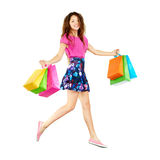 Cute shopper Stock Image