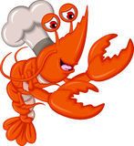 Cute shrimp chef Stock Image
