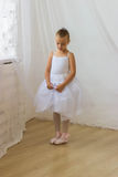 Cute shy little ballerina posing Royalty Free Stock Photo