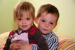 Cute siblings Royalty Free Stock Photos