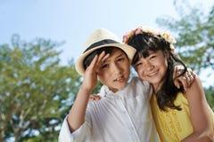 Cute siblings Royalty Free Stock Photo