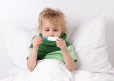 Sick child Stock Image
