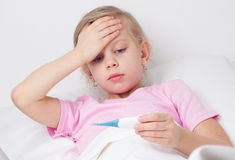 Sick girl Royalty Free Stock Photo