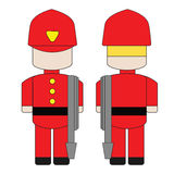Cute simple cartoon of a fireman Royalty Free Stock Photography