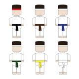 Cute simple cartoon karate Stock Image