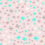 Cute simple floral pattern with daisy flower pale pink. Cute simple floral pattern pale pastel color bacground for female and childish design Royalty Free Stock Photos