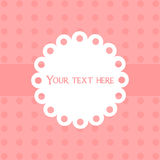 Cute simple greeting card in coral and white colors. Stock Photography