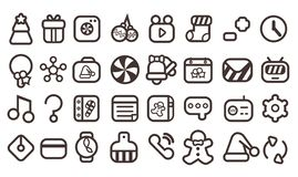 Cute Christmas Icons vector illustration