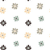 Cute simple pastel flowers seamless pattern background illustration Royalty Free Stock Photo