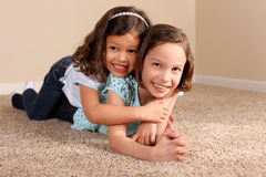 Cute sisters Royalty Free Stock Images