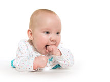 Cute six-month-old baby girl Royalty Free Stock Photography