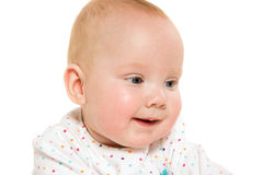 Cute six-month-old baby girl Royalty Free Stock Images