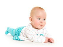 Cute six-month-old baby girl Stock Photos