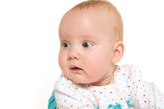 Cute six-month-old baby girl Stock Images