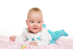 Cute six-month-old baby girl Stock Photography