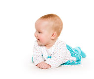 Cute six-month-old baby girl Stock Image