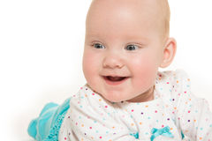 Cute six-month-old baby girl Royalty Free Stock Photo