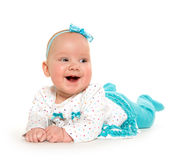 Cute six-month-old baby girl royalty free stock photos