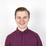 Cute sixteen year old boy in studio. Portrait of cute sixteen year old boy in studio royalty free stock photos