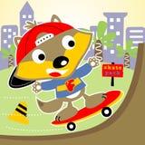 Cute skater Royalty Free Stock Image