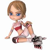 Cute Skater - Toon Figure Royalty Free Stock Photos