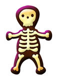 Cute skeleton isolated on white Stock Photos