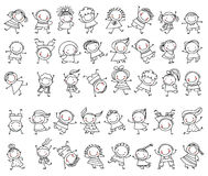 Cute sketch children Stock Photography